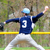 JIM VAIKNORAS/staff photo  Triton's Dylan Copeland pitches against Amesbury during their game at Amesbury Saturday morning.