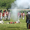 BRYAN EATON/Staff photo. The revolutionaries force the British Army to retreat as their numbers fall.