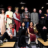 BRYAN EATON/Staff photo. The cast of Splamalot put on by the Sparhawk upper school gathers for dress rehearsal.