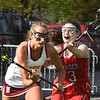 BRYAN EATON/Staff photo. Masco's Maddie Casey moves in on Newburyport's Hannah Schilling.
