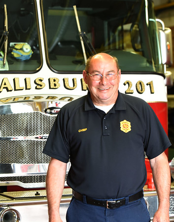 BRYAN EATON/Staff photo. Salisbury fire chief Richard Souliotis is retiring.