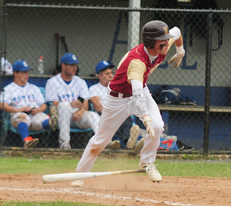 JIM VAIKNORAS/Staff photo Newburyport's Jack Cahalane hit a  game winning RBI against Georgetown winning the annual Bert Spofford tournament at Georgetown Sunday.