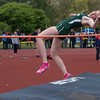 JIM VAIKNORAS/staff photo Pentucket's Siobhan Mictell competes in the high jump at the Hernry Sheldon track meet at Triton Saturday.