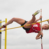 JIM VAIKNORAS/staff photo Amesbury's Chelsea Lynch wins the pole vault at the Hernry Sheldon track meet at Triton Saturday.