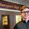 BRYAN EATON/Staff photo. This year's Newburyport High School valedictorian Jackson Kealey.