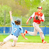 JIM VAIKNORAS/staff photo Amesbury's Derek Doherty waits for the throw as Triton's Christian O'Brien during their game at Triton Sunday.