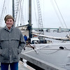 JIM VAIKNORAS/Staff photo  Captain Dale Goff of the Alabama stands infront of his ship along the Newburyport waterfront.