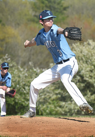 BRYAN EATON/Staff photo. Triton pitcher Dylan Copeland.