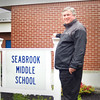 ANGELJEAN CHIARAMIDA/Staff photo. Seabrook Middle School Principal Les Shepard will bid farewell on June 30, when he retires after 37 years teaching and working with Seabrook school children.
