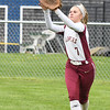 JIM VAIKNORAS/Staff photo  Newburyport's Anna Siemasko catches a fly ball at Triton Wednesday.