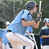 JIM VAIKNORAS/Staff photo Triton's Ross Lojek with a single against Newburyport during their game at Triton Thursday.