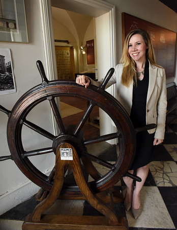 BRYAN EATON/Staff photo. Jessica Pappathan will be steering the Custom House Maritime Museum forward as the new executive director, taking over from Mike Mroz.