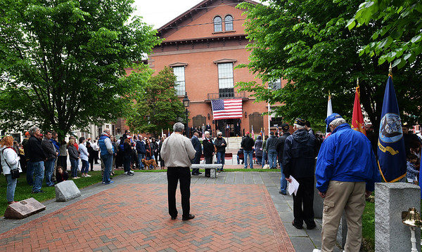 BRYAN EATON/Staff photo. Brown Square was one of several stops in the Newburyport Memorial Day Parade.