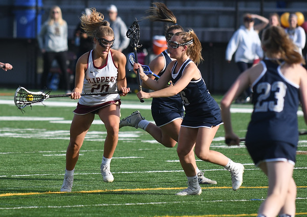 JIM VAIKNORAS/Staff photo Newburyport's Maggie Pons makes a move during the Clippers game against Exeter at World War Memorial Stadium in Newburyport Friday.