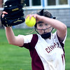 JIM VAIKNORAS/Staff photo  Newburyport's Paige Gouldthorpe pitches at Triton Wednesday.