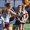 JIM VAIKNORAS/Staff photo Newburyport's Margaret Cote takes a shot on net during the Clippers game against Exeter at World War Memorial Stadium in Newburyport Friday.