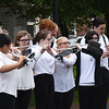 BRYAN EATON/Staff photo. The Newburyport High School Marching Band plays the armed forces medley.