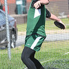 JIM VAIKNORAS/Staff photo Pentucket's Liam Grenham with the discus at the Cape Ann League Track and Field championships at Mascomonet in Boxford Saturday.