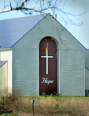 BRYAN EATON/Staff photo. Hope Community Church on Hale Street in Newburyport as seen from Low Street.