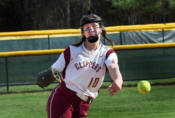 BRYAN EATON/Staff photo. Newburyport pitcher Paige Gouldthorpe.