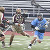 JIM VAIKNORAS/Staff photo Triton's John D'Eufemia makes a move against Whitiier at Triton Thursday.