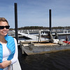 BRYAN EATON/Staff photo. Claudia Becker is the new dockmaster at the Newburyport Yacht Club.