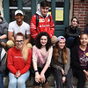 BRYAN EATON/Staff photo. Amesbury Innovation High School Honor Students, front, from left, Noah Banville, Chelsea Olson, Emma Schlicher, Abbi Cleveland and Jazalyn Reader. Back, from left, Josh Conroy, Malik Belton, Jesse Interrante, Kennith Chateauneuf and Rileigh Nichols.