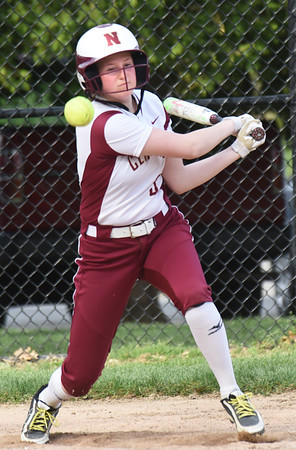 BRYAN EATON/Staff photo. Madison Duford connects for a single.