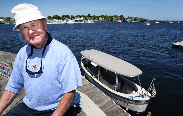 "BRYAN EATON/Staff photo. Capt. Bill Taplin can now run his water taxie, ""Coastie"" shown below, between Salisbury Beach State Reservation and the Newburyport waterfront."