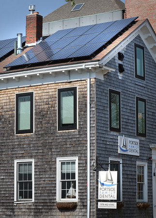 BRYAN EATON/Staff photo. Portside Family Dental in Newburyport installed solar panels a couple years ago.