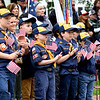 BRYAN EATON/Staff photo. Newburyport Cub Scouts from Pack 21 clap as dignitaries are introduced.