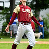 JIM VAIKNORAS/Staff photo Newburyport starting pitcher Casey McClaren celebrates the Clipper's 2-1 victory over Georgetown to win the Bert Spofford Memorial Tournament Sunday in Georgetown.