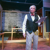 "JIM VAIKNORAS/Staff photo Joe Dominquez as Mr Stone in the Actor Studio production of ""The Trail of Mr. Stone,"""