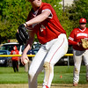 BRYAN EATON/Staff Photo. Amesbury ace Blake Bennett pitching against Hamilton-Wenham.