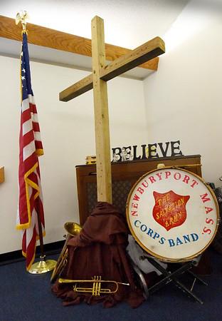 BRYAN EATON/Staff Photo. The Salvation Army meeting room in Newburyport.