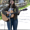 JIM VAIKNORAS/Staff photo Amanda McCarthy performs at the annual Salisbury Art Walk on the Rail Trail Saturday.