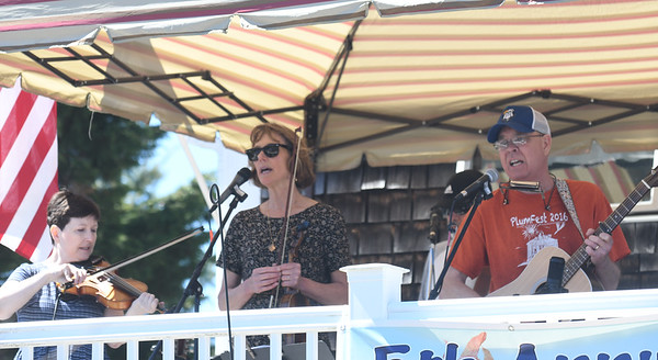 JIM VAIKNORAS/Staff photo Goats on Tour brought a little Blue Grass to the 5th annual Plum Fest on Plum Island Saturday. The band was one of almost 100 to entertain thousands of music lovers throughout the day.