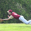 JIM VAIKNORAS/Staff photo Newburyport pitcher Walker Bartkiewics makes a play on a pop up bunt at Triton Thursday.