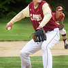 BRYAN EATON/Staff Photo. Newburyport pitcher Parker McLaren winds up.
