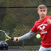 BRYAN EATON/Staff Photo. Amesbury's Matt Nardone in first singles action.