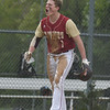 JIM VAIKNORAS/Staff photo Newburyport's Thomas Greene celebrate an early inning run at Triton Friday.
