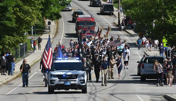JIM VAIKNORAS/Staff photo  The Amesbury Memorial Day Parade makes it's way up Main Street  Monday.