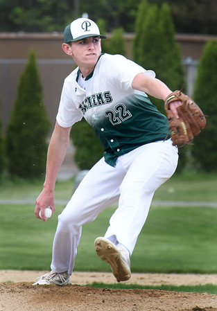 BRYAN EATON/Staff Photo. Jake Etter faces a Masco batter.