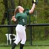 BRYAN EATON/Staff Photo. Pentucket's Emma Lopata catches a pop ball.