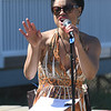 "JIM VAIKNORAS/Staff photo  Rabihah ""Ruby"" Shabazz performs with Ruby and the Groove at  the 5th annual Plum Fest on Plum Island Saturday. The band was one of almost 100 to entertain thousands of music lovers throughout the day."