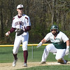 BRYAN EATON/Staff Photo. Pentucket's Jordan Cane makes it to second on a steal.