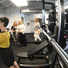 JIM VAIKNORAS/Staff photo Guests tour the Jacalyn Stuart Bennett Mindfulness & Wellness Space at the Nock Middle School Friday.