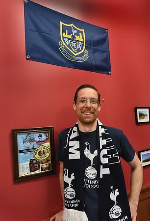 BRYAN EATON/Staff Photo. Soccer fan, Riverwalk Brewery owner Steve Sanderson.