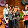 BRYAN EATON/Staff Photo. Second-graders at Amesbury Elementary School held their annual Bunny Fashion Show, each taking a turn walking back and forth on stage as their previously recorded voices tell about their particular rabbit. They came up with their own idea for a character bunny, then worked on their descriptive writing skills to desribe their creation in the recording.