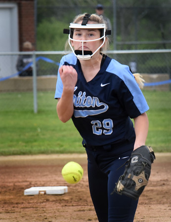 BRYAN EATON/Staff Photo. Triton pitcher Katherine Quigley.